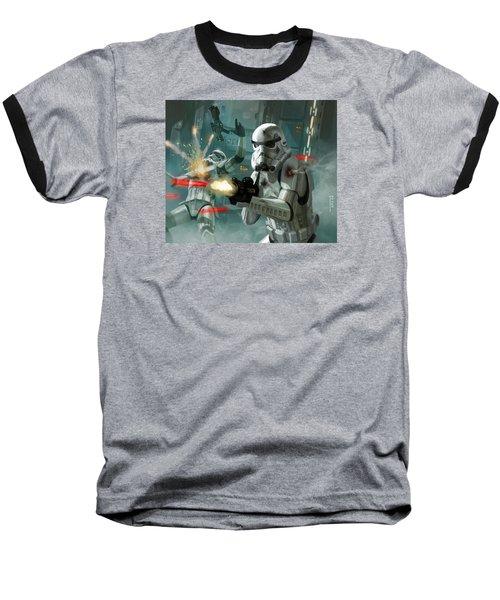 Heavy Storm Trooper - Star Wars The Card Game Baseball T-Shirt