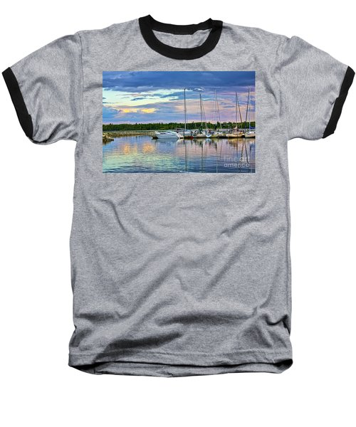 Baseball T-Shirt featuring the photograph Hecla Island Boats II by Teresa Zieba
