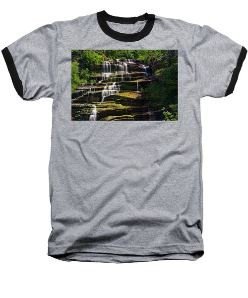 Hector Falls Baseball T-Shirt by Dave Files