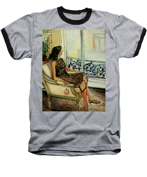 Heddy Baseball T-Shirt by Helena Bebirian