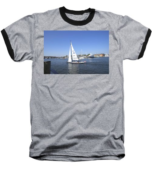 Baseball T-Shirt featuring the photograph Heeling by Charles Kraus