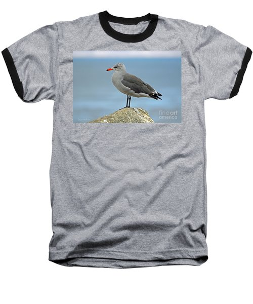 Baseball T-Shirt featuring the photograph Heermann's Gull In Profile by Susan Wiedmann