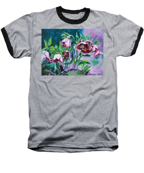 Hellebore Flowers Baseball T-Shirt
