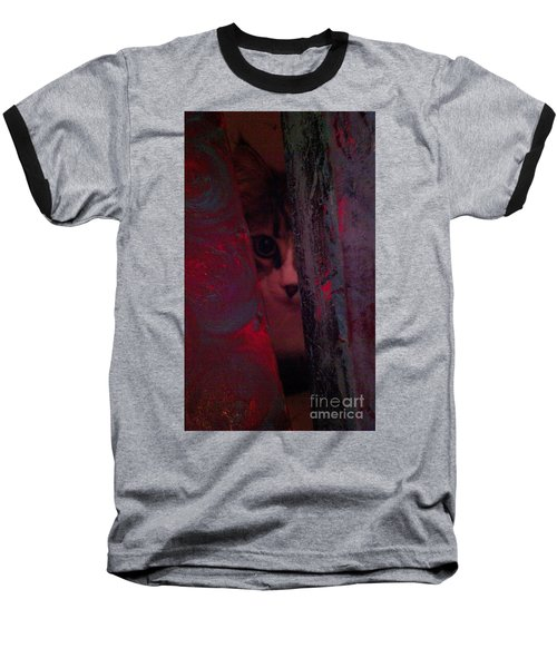 Baseball T-Shirt featuring the photograph Helping In The Art Studio by Jacqueline McReynolds