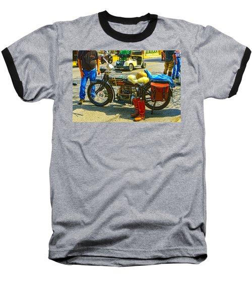 Henderson At Cannonball Motorcycle Baseball T-Shirt
