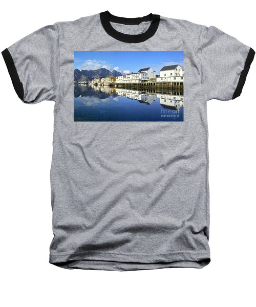 Henningsvaer Harbour Baseball T-Shirt