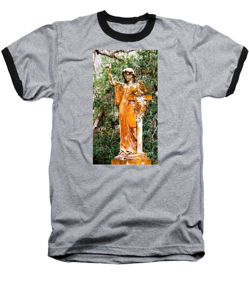 Baseball T-Shirt featuring the photograph Her Guardian Angel by Joy Hardee