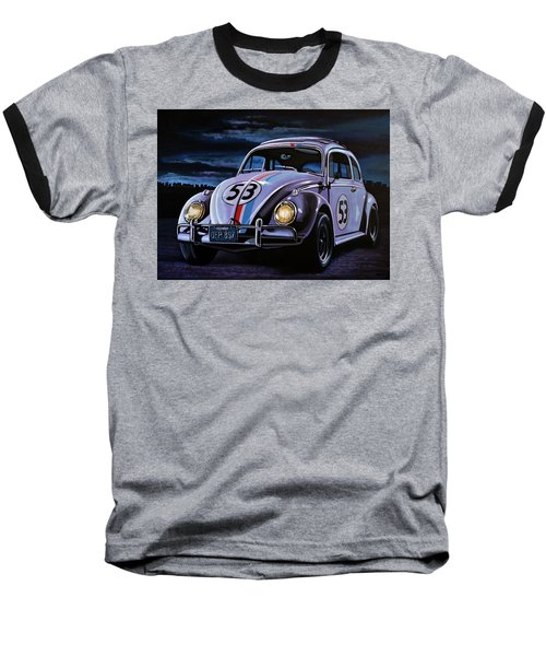 Herbie The Love Bug Painting Baseball T-Shirt