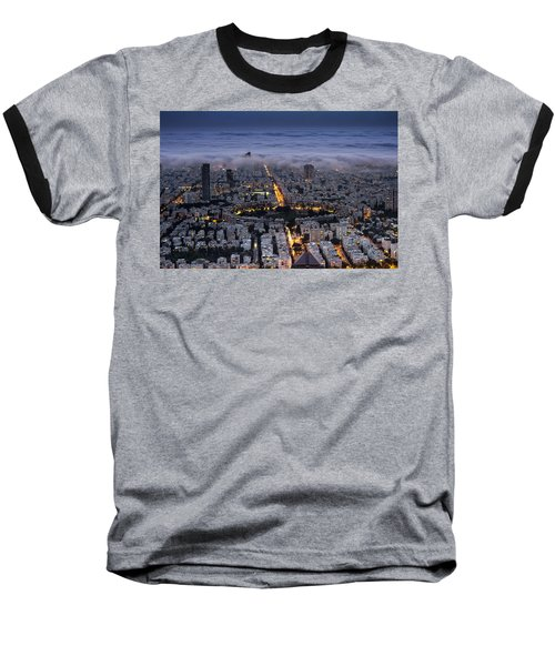Baseball T-Shirt featuring the photograph Here Comes The Fog  by Ron Shoshani