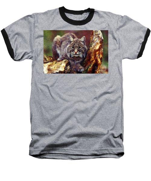 Baseball T-Shirt featuring the digital art Here Kitty Kitty by Lianne Schneider