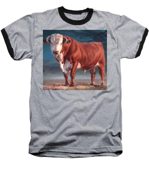 Hereford Bull Baseball T-Shirt by Hans Droog