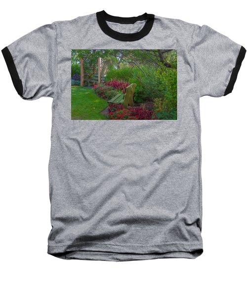 Hereford Inlet Lighthouse Garden Baseball T-Shirt
