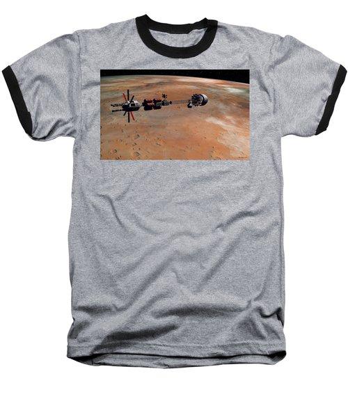 Hermes1 Orbiting Mars Baseball T-Shirt by David Robinson