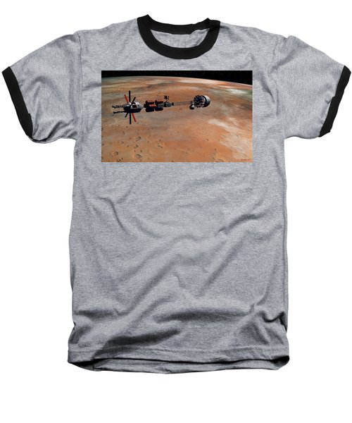 Hermes1 Orbiting Mars Baseball T-Shirt