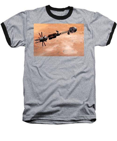 Baseball T-Shirt featuring the digital art Hermes1 Over Mars by David Robinson