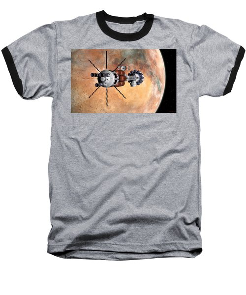 Baseball T-Shirt featuring the digital art Hermes1 Realign Orbital Path by David Robinson