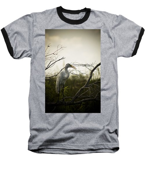 Heron At Dusk Baseball T-Shirt
