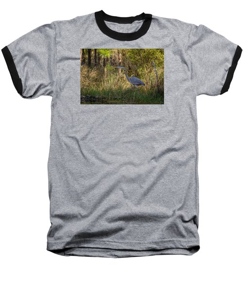 Heron On The Hunt Baseball T-Shirt