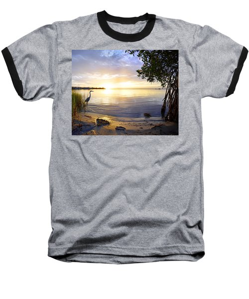 Heron Sunrise Baseball T-Shirt