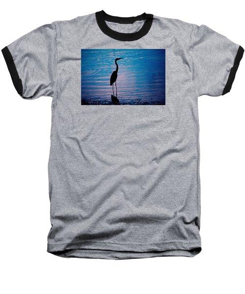 Herons Moment Baseball T-Shirt by Karol Livote