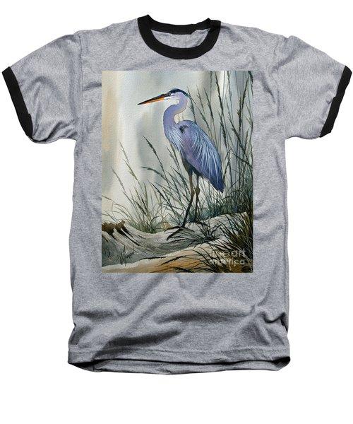 Herons Sheltered Retreat Baseball T-Shirt by James Williamson