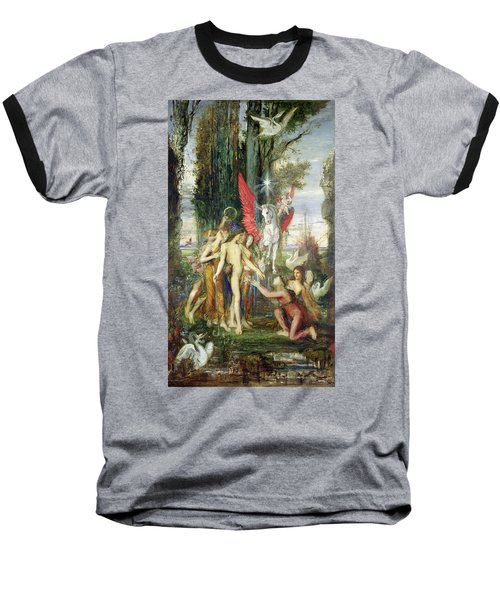 Hesiod And The Muses Baseball T-Shirt by Gustave Moreau