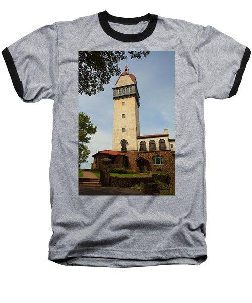 Heublein Tower Baseball T-Shirt by Karol Livote