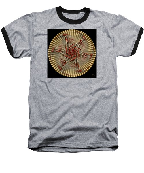 Baseball T-Shirt featuring the digital art Hexagramma by Manny Lorenzo