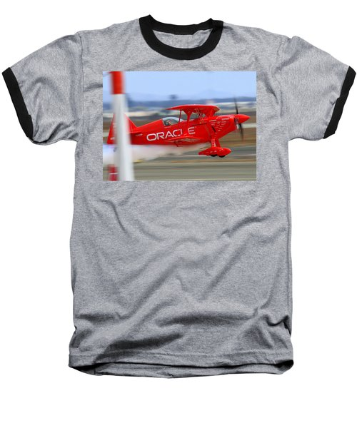 Hi Speed Low Pass By Sean Tucker At Salinas Ksns Air Show Baseball T-Shirt