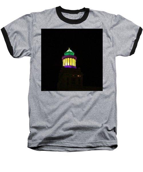 Hibernia Tower - Mardi Gras Baseball T-Shirt
