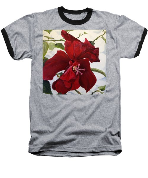 Double Hibiscus Baseball T-Shirt