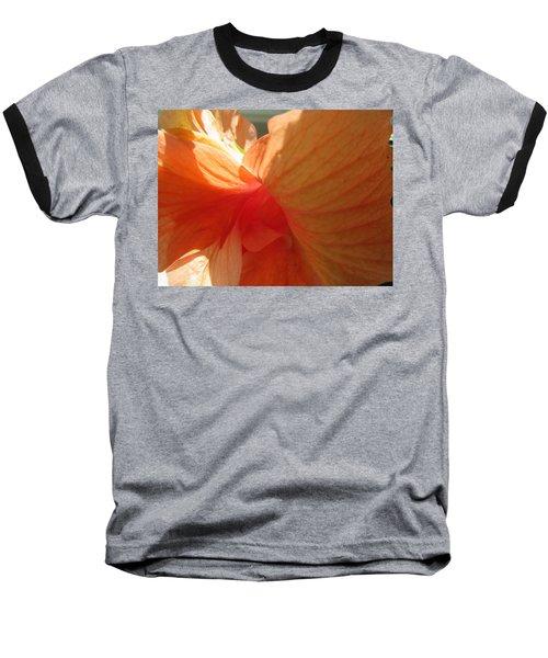 Hibiscus Butterfly Baseball T-Shirt