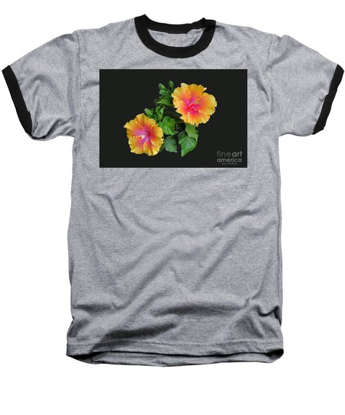 Baseball T-Shirt featuring the photograph Hibiscus Duo by Susan Wiedmann