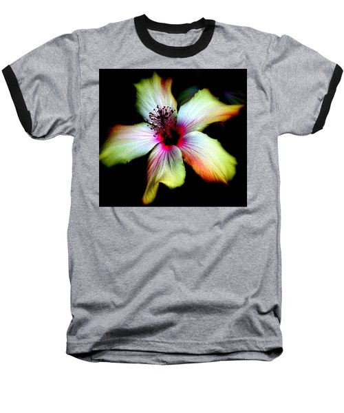 Baseball T-Shirt featuring the photograph Hibiscus by Jodie Marie Anne Richardson Traugott          aka jm-ART