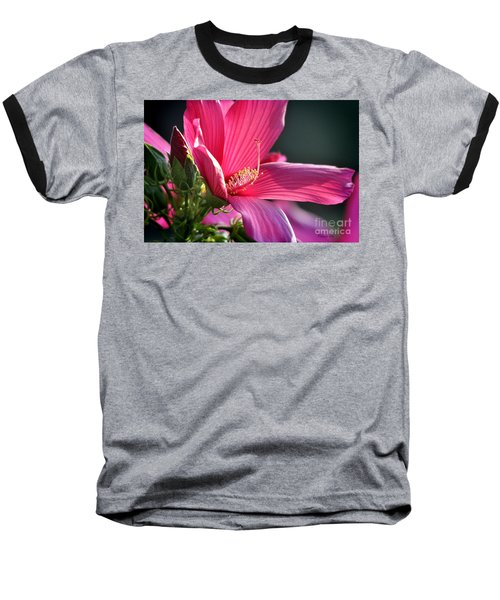 Baseball T-Shirt featuring the photograph Hibiscus Morning Bright by Nava Thompson