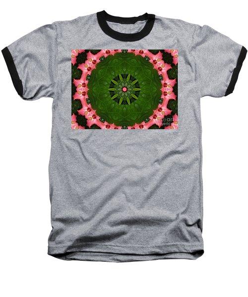 Baseball T-Shirt featuring the digital art Hibiscus Reflection Design by Oksana Semenchenko