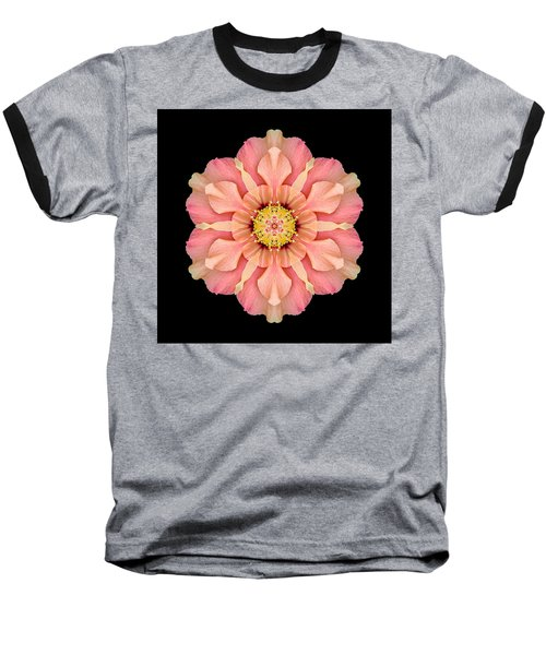 Hibiscus Rosa-sinensis I Flower Mandala Baseball T-Shirt by David J Bookbinder
