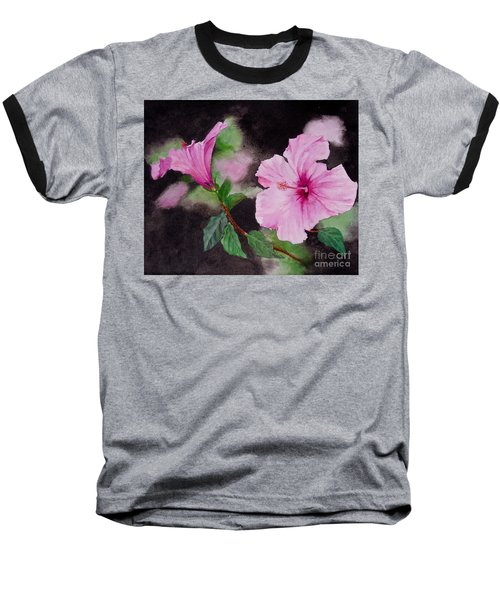 Hibiscus - So Pretty In Pink Baseball T-Shirt