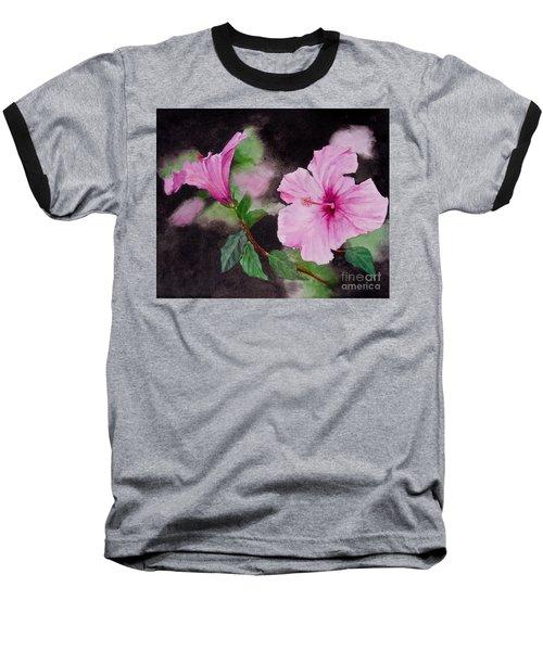 Hibiscus - So Pretty In Pink Baseball T-Shirt