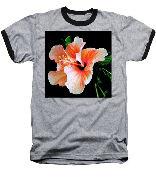 Hibiscus Spectacular Baseball T-Shirt by Ben and Raisa Gertsberg