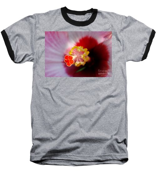 Baseball T-Shirt featuring the photograph Hibiscus Stigma Pads by Susan Wiedmann