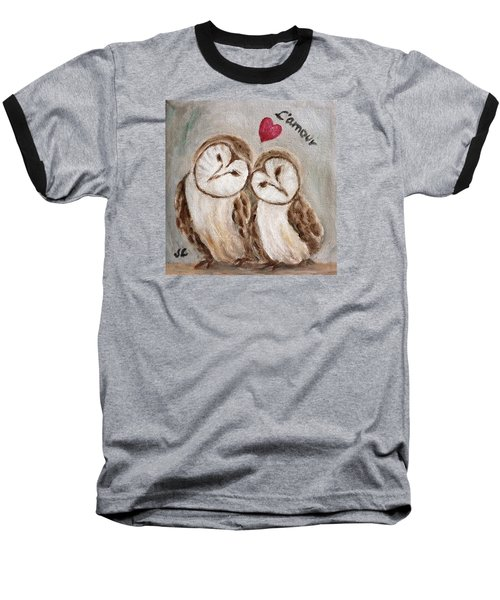 Hiboux Dans L'amour Baseball T-Shirt