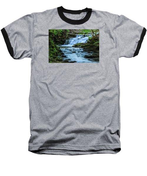 Baseball T-Shirt featuring the photograph Hidden Falls by Julie Andel