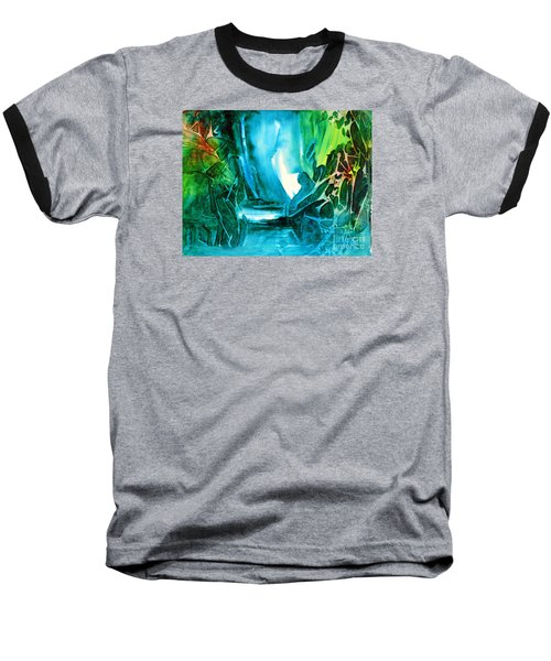 Baseball T-Shirt featuring the painting Hidden In The Stream by Allison Ashton
