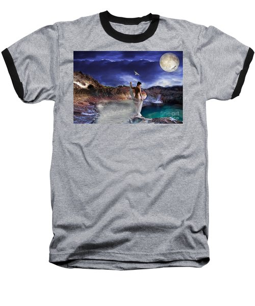 Baseball T-Shirt featuring the digital art Hidden River by Liane Wright