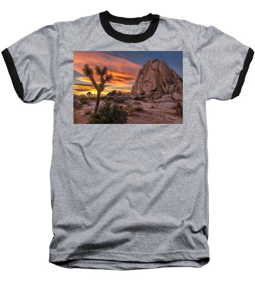 Hidden Valley Rock - Joshua Tree Baseball T-Shirt by Peter Tellone