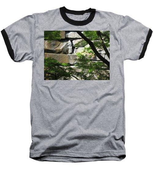 Hidden Waterfall Baseball T-Shirt by David Trotter