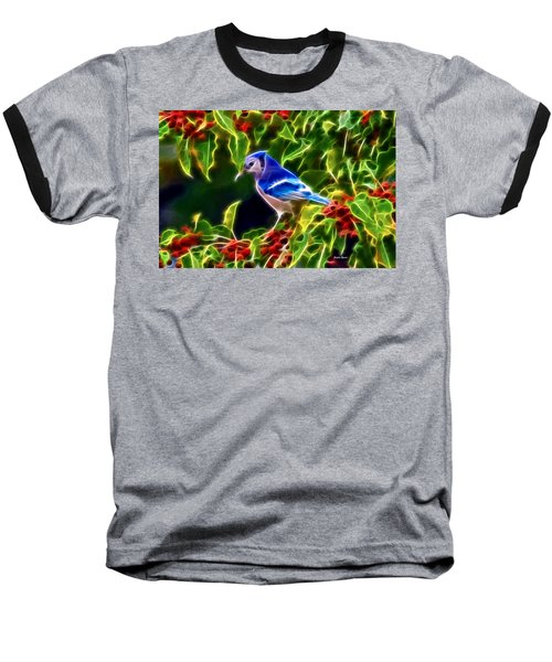 Hiding In The Berries Baseball T-Shirt by Stephen Younts
