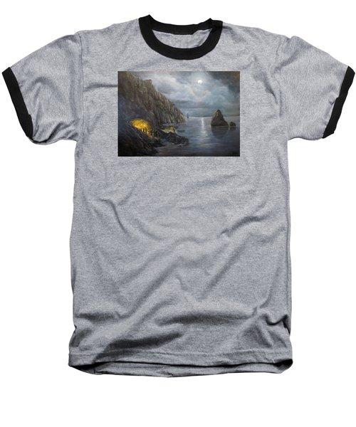Hiding Treasure Baseball T-Shirt by Donna Tucker