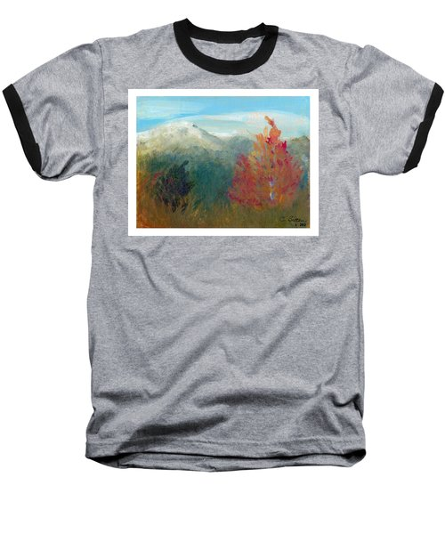Baseball T-Shirt featuring the painting High Country View by C Sitton